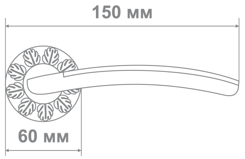 Ручка Медио 55-G41D CPW белый/хром (10 шт)