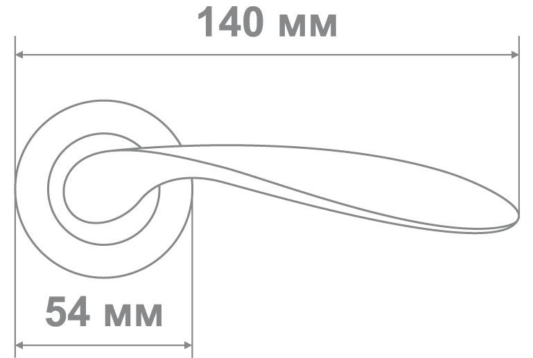 Ручка Локер 55190 AB/MATT бронза (20 шт.)