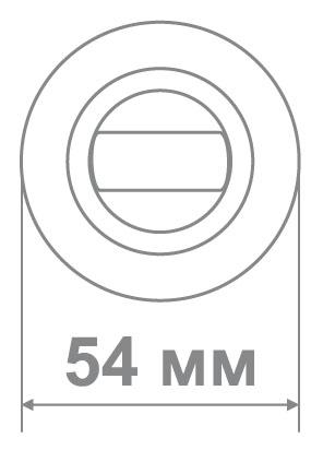 Медио накладка BAT BN/GP (ТОН 2) черный глянец/золото (100 шт)