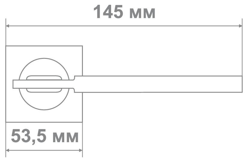 Ручка Медио L09-111 MATT BLACK/CP мат.черный/хром (20 шт)