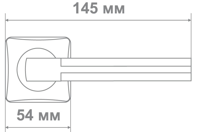 Ручка Медио L36-335 SN/CP никель/хром (10 шт)
