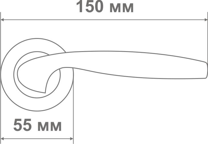 Ручка Локер 55078 CPW хром/белый (20 шт)