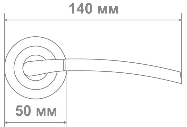 Ручка Локер 53136 SN/CP никель/хром (20 шт.)