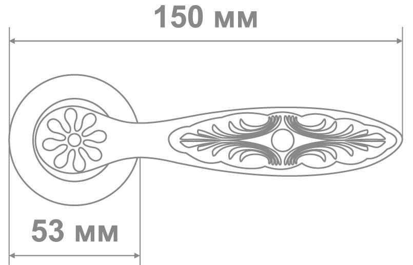 Ручка Локер 55066 MCF кофе мат. (20 шт.)