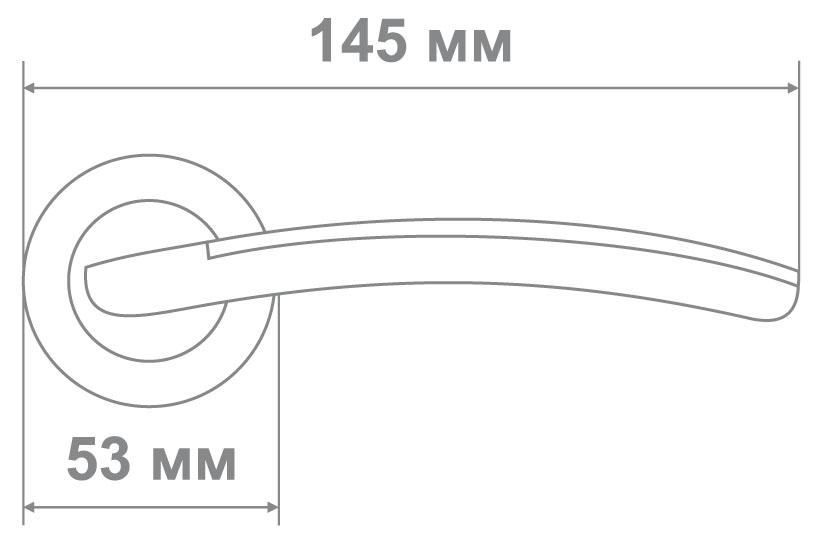Ручка Медио 41C AS/BN темный хром (10 шт)
