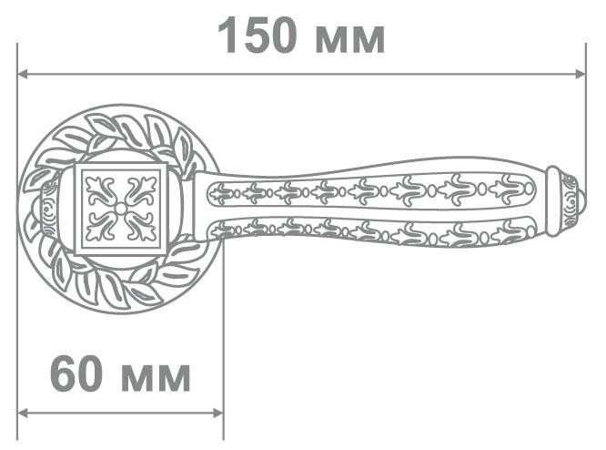 Ручка Аделли 6818-65 ABD мат.черный/бронза (10 шт)
