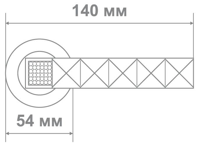 Ручка Аделли 58181-6 CF/WC кофе/белые кристалы (10 шт)