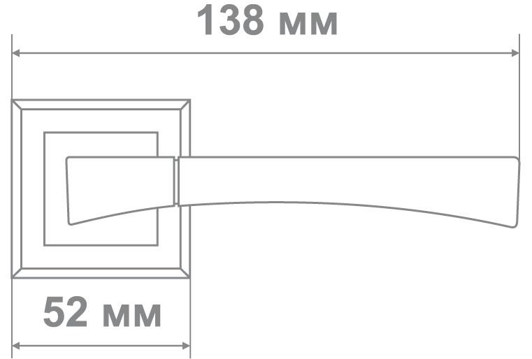 Ручка Локер 52063 CR/SS никель/хром (20 шт.)