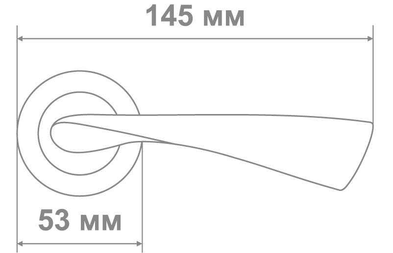 Ручка Медио 030 SB/GP (ТОН 2) мат.золото/золото (20 шт)