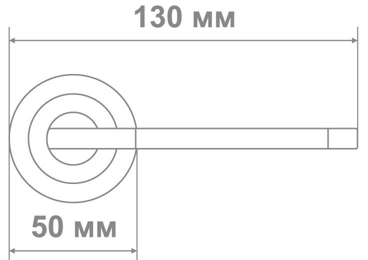 Ручка Локер 53071 SN/CP никель/хром (20 шт.)