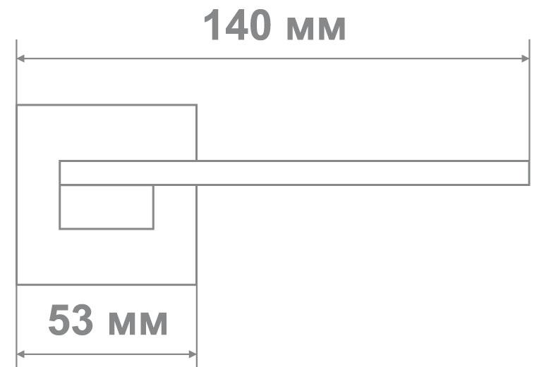 Ручка Медио M8232-56 MSCB мат.хром (10 шт)