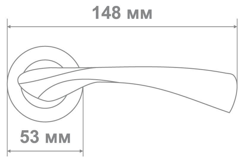 Ручка Медио 264 AB бронза (20 шт)