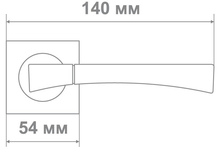 Ручка Медио L09-198 BN/CP черный/хром (20 шт)