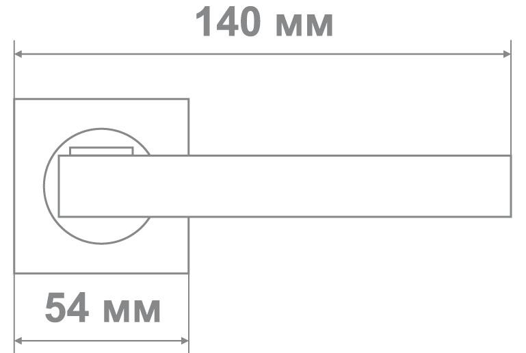 Ручка Медио L09-170 CP/SILVER хром/серебро (20 шт)