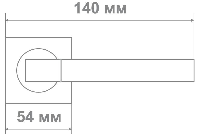 Ручка Медио L09-232 BN/CP черный/хром (20 шт)