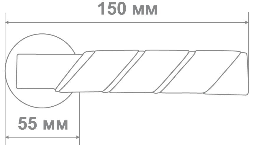 Ручка Ksana 9511 CP/BLACK хром/черный + ET накладка (6 шт)