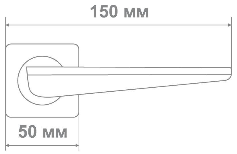 Ручка Медио M5361-88 BLACK/MCF черный/мат.кофе (10 шт)