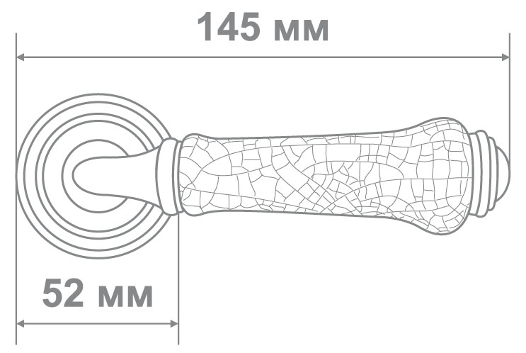 Ручка Аделли 6308-22 GP/WHITE золото/белая керам. (10)