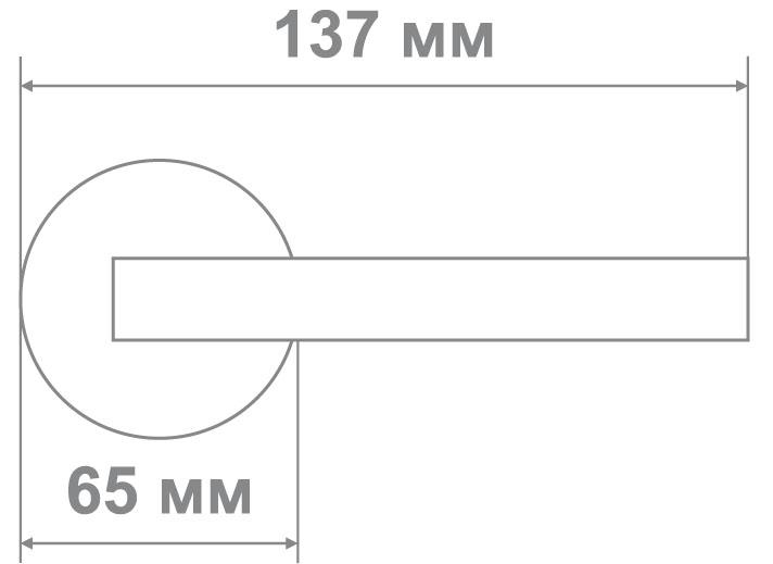 Защелка Джули 832 SB-BK (20 шт)