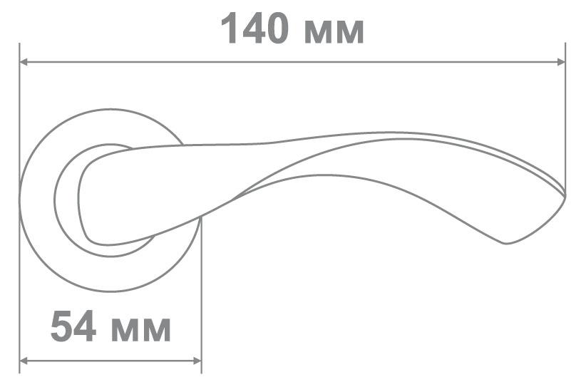 Ручка Медио LMA05 BSN никель (20 шт)