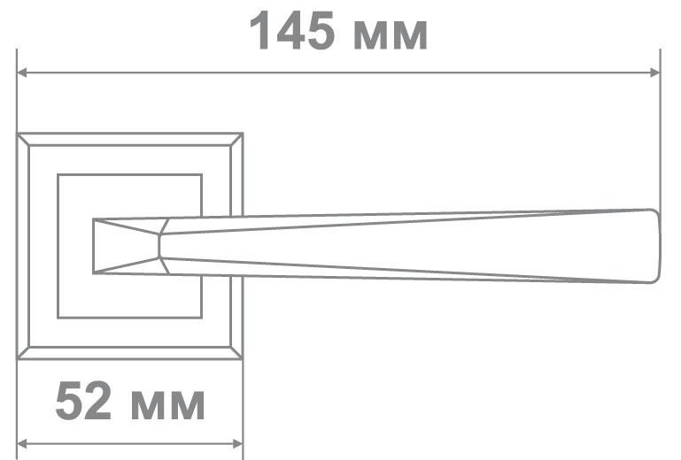 Ручка Локер 52012 SN/BN никель/черный (20 шт.)