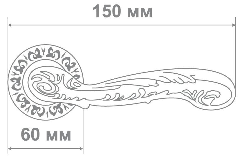 Ручка Alemar A7137-69 AFG антич. золото (10 шт)