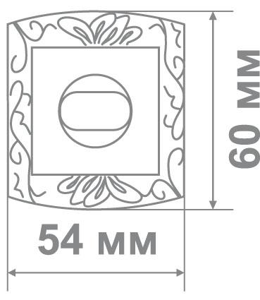 Накладка Leo LBK31 MCF/W кофе мат./белый (70 шт)