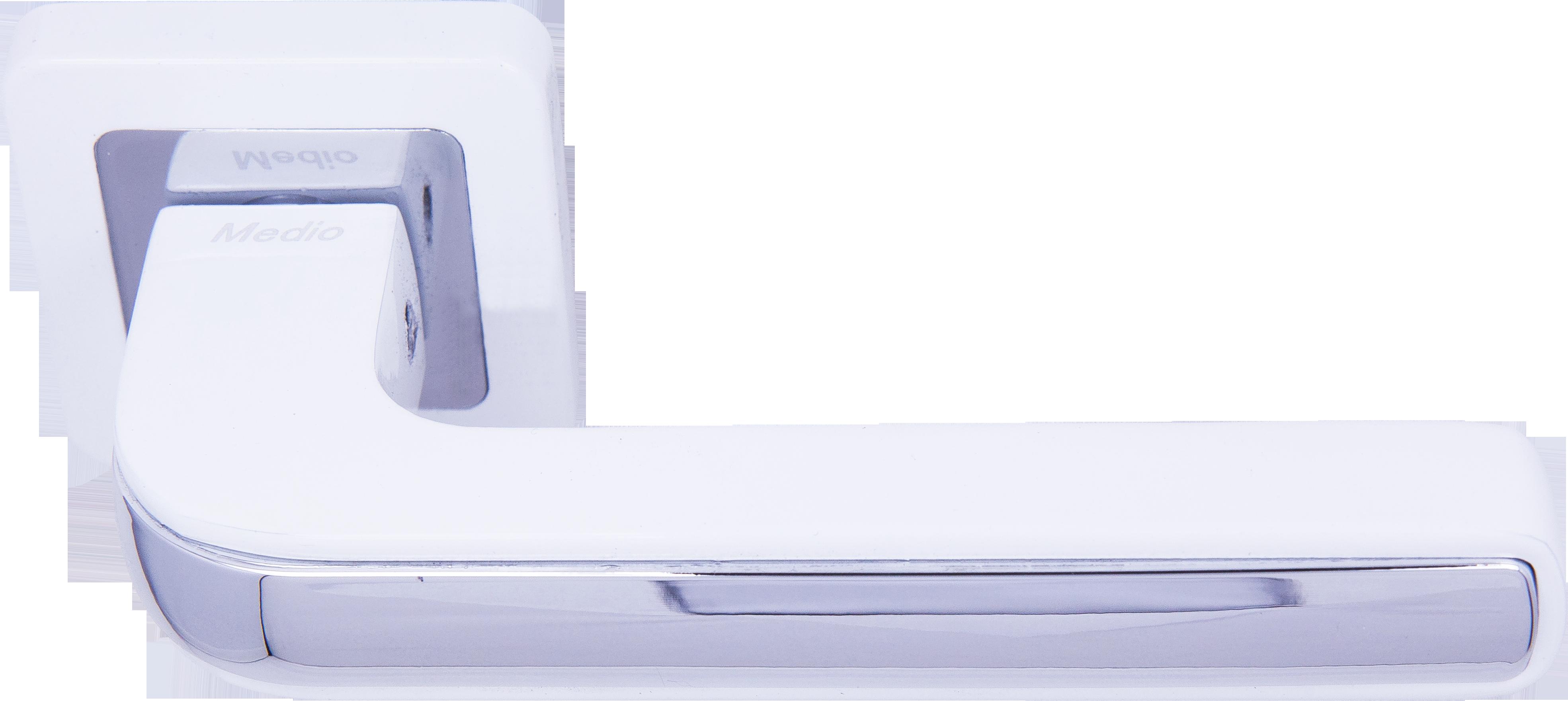 Ручка Медио ML7440-78 WW/CP белый/хром (20 шт)