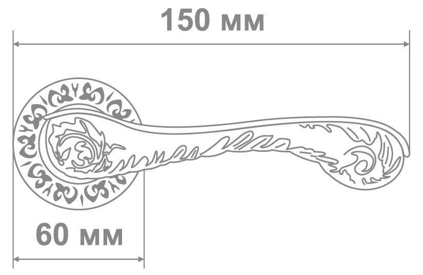 Ручка Alemar A7182-69 PCF кофе глянец (10 шт)
