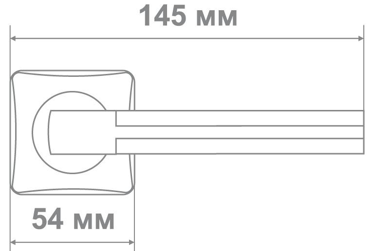 Ручка Медио L36-335 CP/SILVER хром/серебро (20 шт)