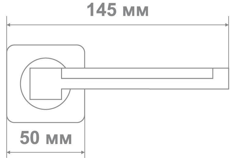 Ручка Медио ML5058-75 MBN/CP графит/хром (20 шт)