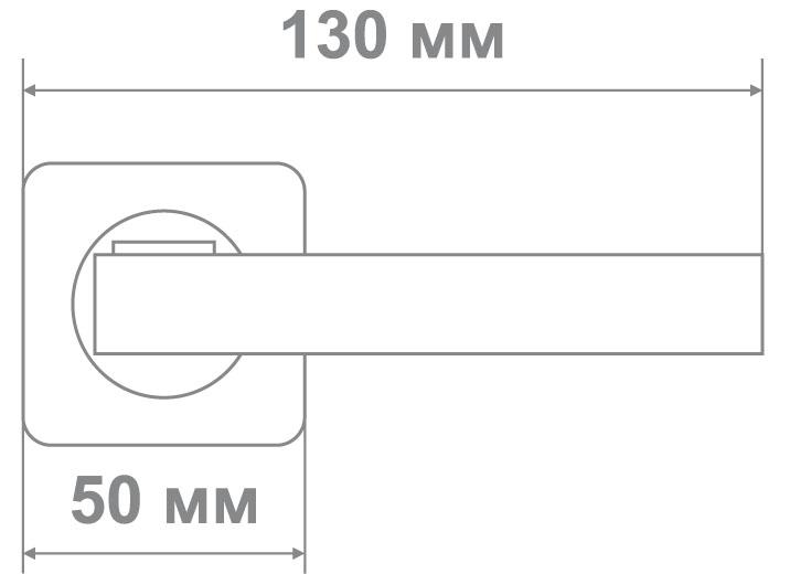 Ручка Медио ML5059-75 PW/CP сатин/хром (20 шт)