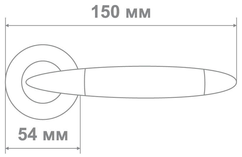 Ручка Медио OZ013 AB/CP бронза/хром (20 шт)