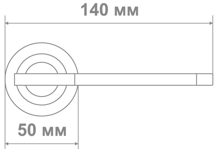 Ручка Локер 53413 SN/CP никель/хром (20 шт.)