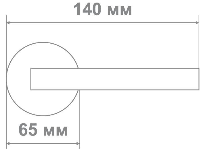 Защелка Джули 895 AC-BK (20 шт)