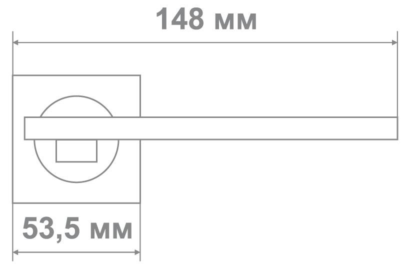 Ручка Медио L09-114 MATT BLACK/CP мат.черный/хром (20 шт)