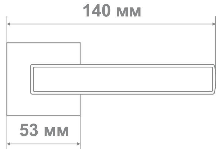 Ручка Медио M8226-56 CP/White хром/белый (10 шт)