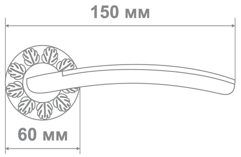 Ручка Медио 55-G41D GPW белый/золото (10 шт)