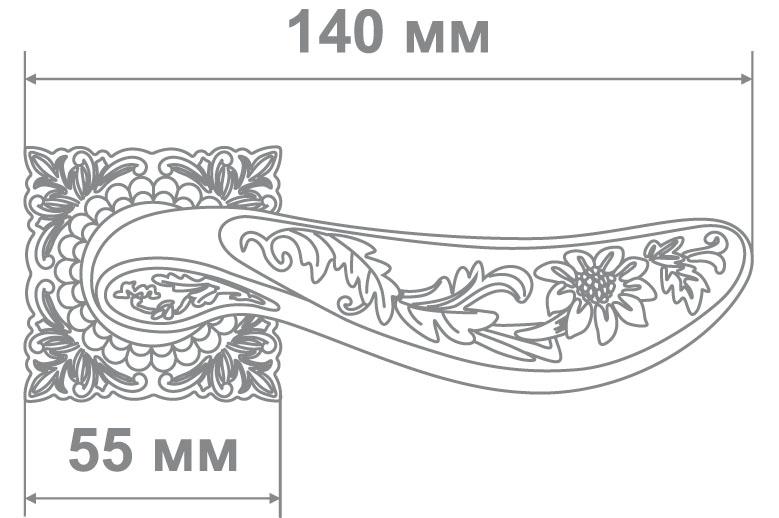 Ручка Медио MD1-200 MCF кофе мат. (20 шт)