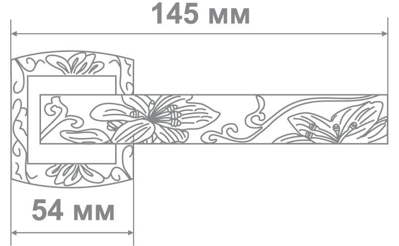 Ручка Leo L3702-31 MCF/W кофе мат./белый (10 шт)
