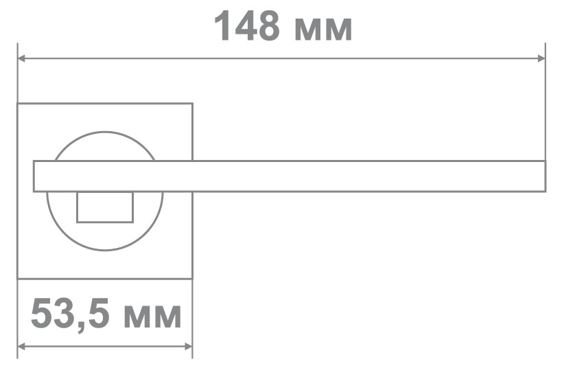 Ручка Медио L09-114 SN/CP никель/хром (20 шт)