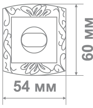 Накладка Leo LBK31 MCF/B кофе мат./черный (70 шт)