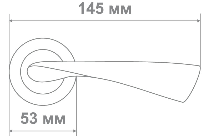 Ручка Медио 030 BSN/CP мат.никель/хром (20 шт)