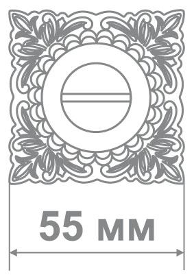 Накладка Медио MD1 BAT BCF кофе глянец (50 шт)