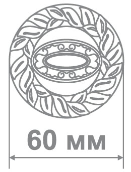 Накладка Alemar ABK65 BRUSHED BRASS(22K) золото (50 шт)