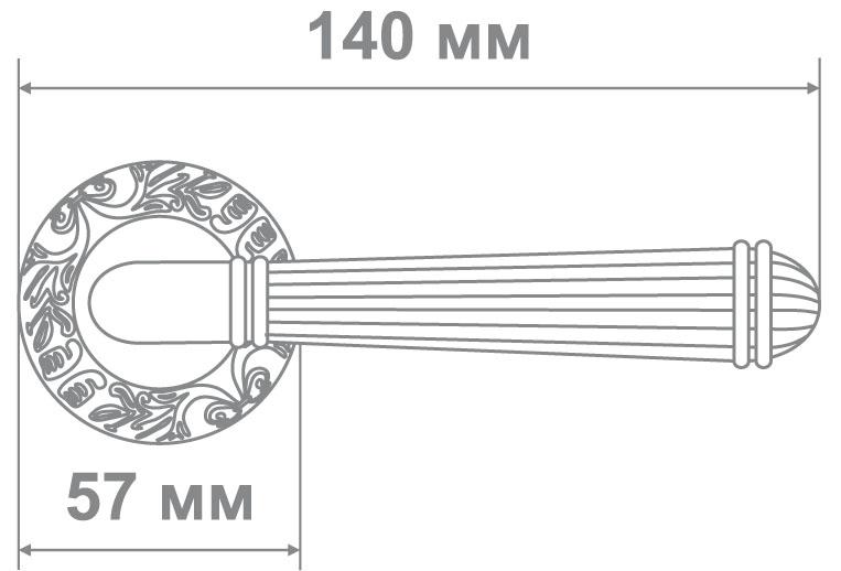 Ручка Локер 59189 GPW белый/золото (20 шт.)
