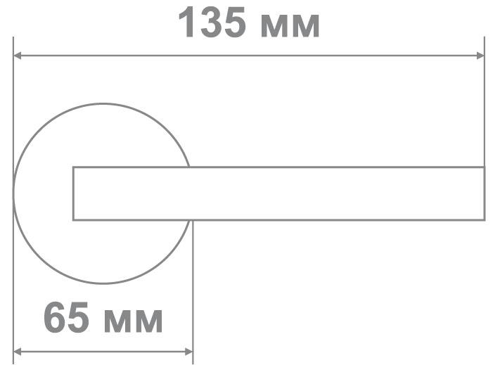 Защелка Джули 832 CP-BK (20 шт)