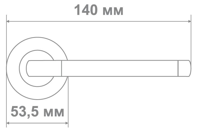 Ручка Медио LJ-186A SN/BN никель/черный (20 шт)