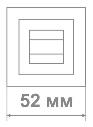 Накладка Медио MLBK52 (квадрат) MSB/CP графит (100 шт)