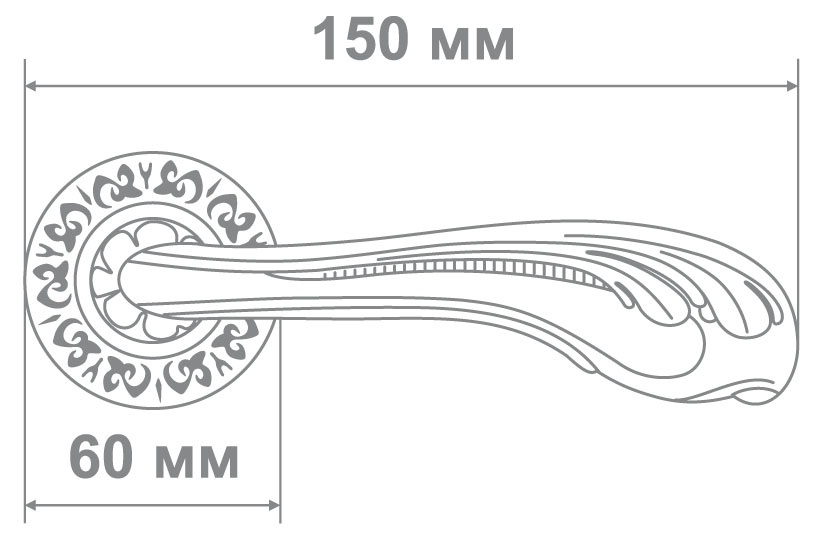 Ручка Alemar A7110-69 PCF кофе глянец (10 шт)